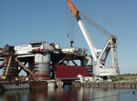 "Floating crane ""Bogatyr - 3"", August 2006"