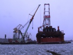 "Floating crane ""Bogatyr - 3"", October 2008 - March 2009"